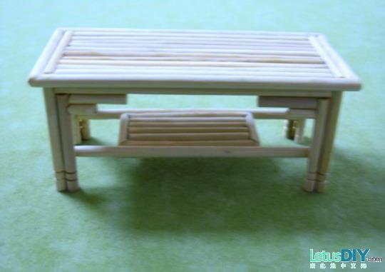 一次性筷子做小家具的做法(图解)