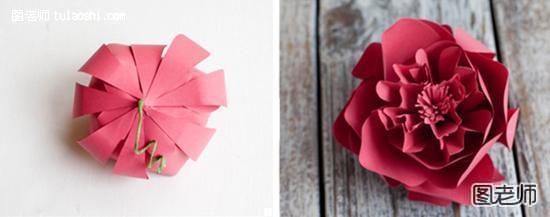 用纸叠玫瑰花的步骤图片