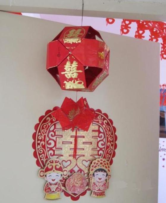 用旧红包diy新年灯笼挂饰手工制作图解