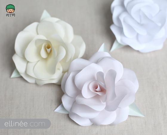 大气纸玫瑰的简单折法图解