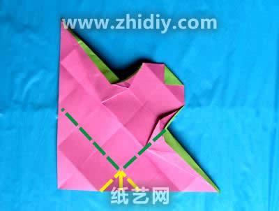 带盖的手工折纸盒子图解教程