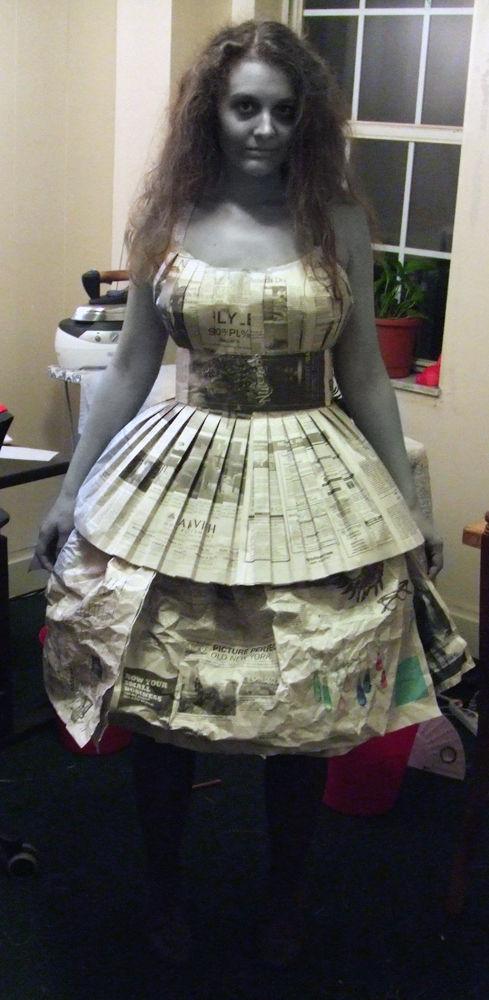 报纸做的服装图片步骤