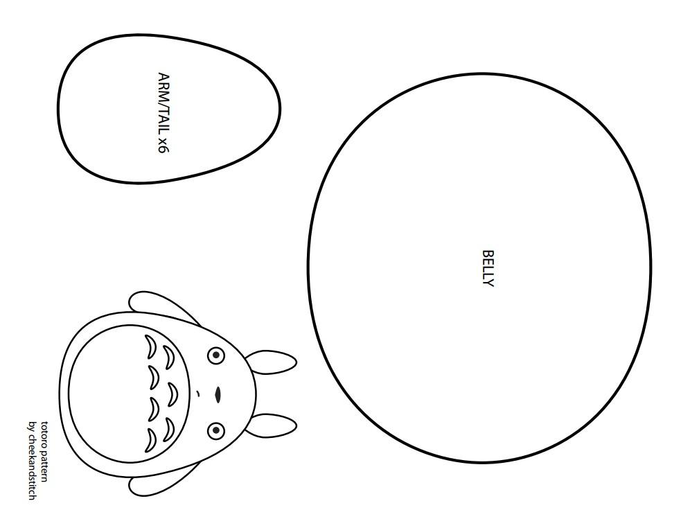 的龙猫毛绒玩具-by