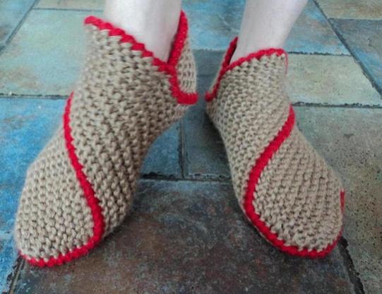 手工编织鞋子 毛线编织拖鞋花样diy教程图解
