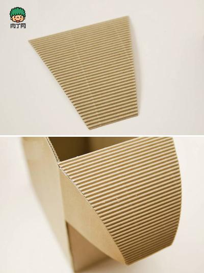 纸板组装玩具 瓦楞纸diy可爱小牛纸巾盒,收纳盒手工制作