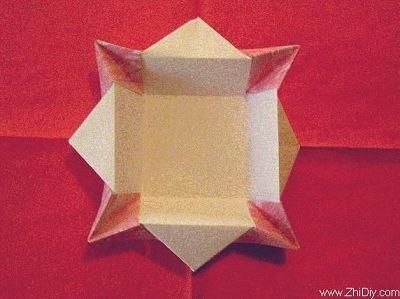四角折纸盒子教程