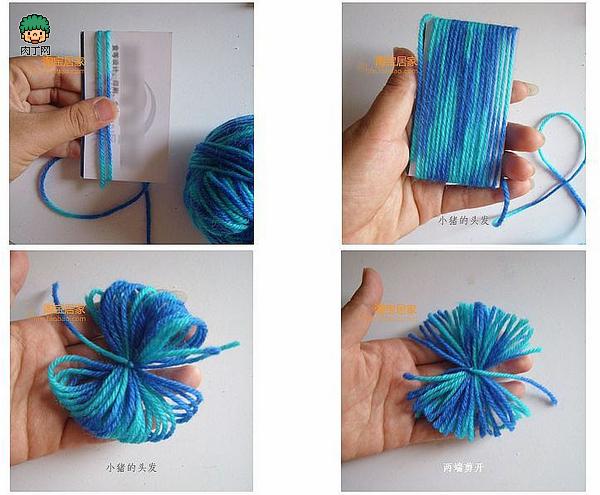 diy手工袜子娃娃制作-跟我学做袜子做小猪