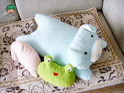 简单的手工布艺制作图解-猪猪枕头